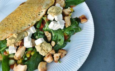 Majspandekager med kylling og grøntsager